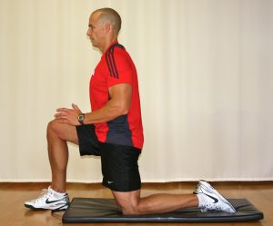 hip flexors stretching exercise
